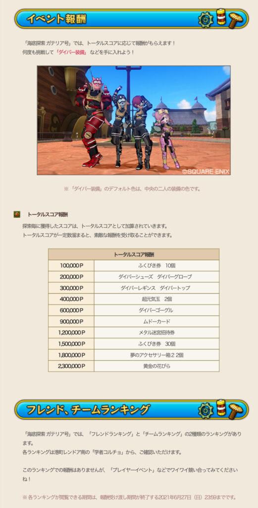 【ドラクエ10】新イベント 海底探索ガテリア号の詳細が公開!